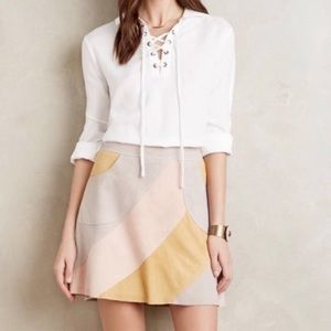 Anthropologie HD in Paris Leather Skirt Pockets 16
